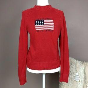 VTG Polo Large Logo Ralph Lauren Sweater Flag A8